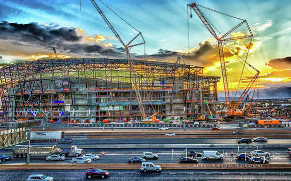 Photograph - New Home For Las Vegas Raiders by Michael Rogers