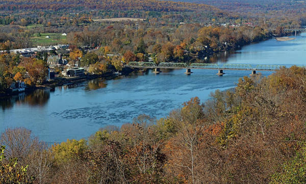 Photograph - New Hope Pa From On High by William Jobes