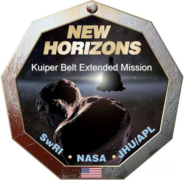 Wall Art - Digital Art - New Horizons Extended Mission Logo by Nikki
