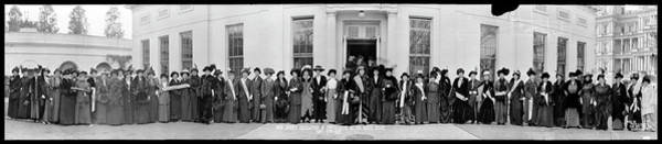 Delegation Photograph - New Jersey Delegation Of Suffragists by Fred Schutz Collection