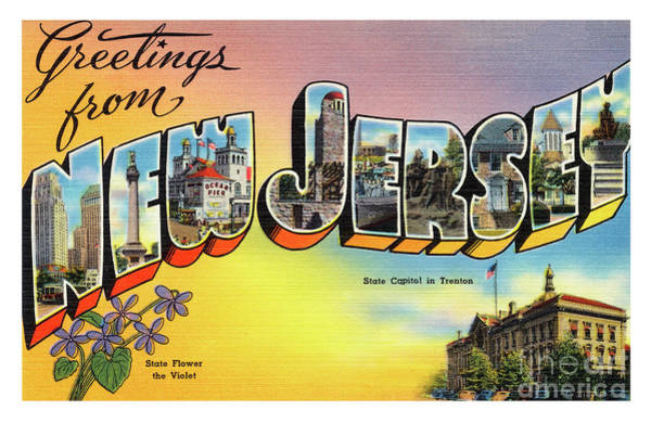 Photograph - New Jersey Greetings - Version 2 by Mark Miller