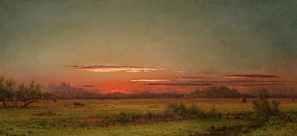 Wall Art - Painting - New Jersey Salt Marsh, Ca by Martin Johnson Heade