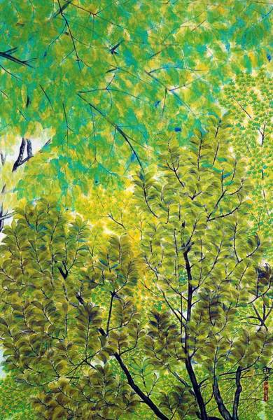 Wall Art - Painting - New Leaves - Digital Remastered Edition by Hayami Gyoshu