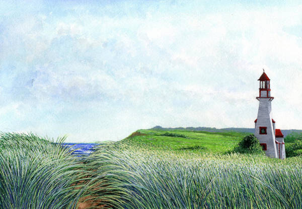 Prince Edward Island Painting - New London Lighthouse Pei by Markus Neal Humby