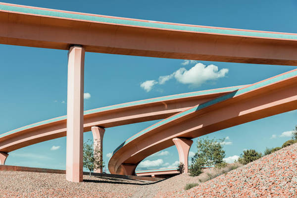 Southwest Usa Photograph - New Mexico Albuquerque Interstate by Mlenny