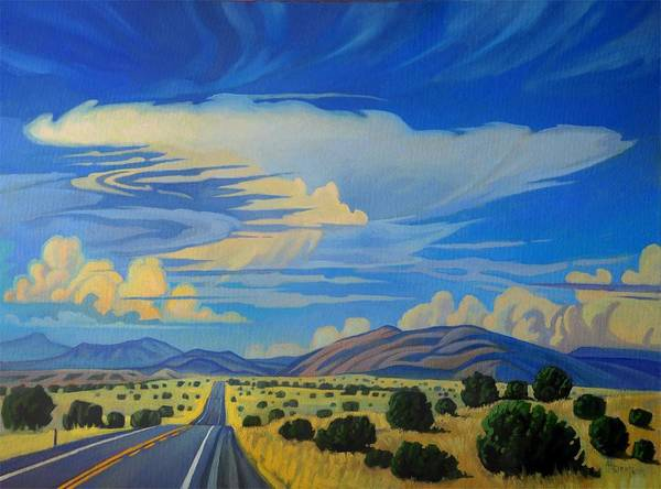 Painting - New Mexico Cloud Patterns by Art West