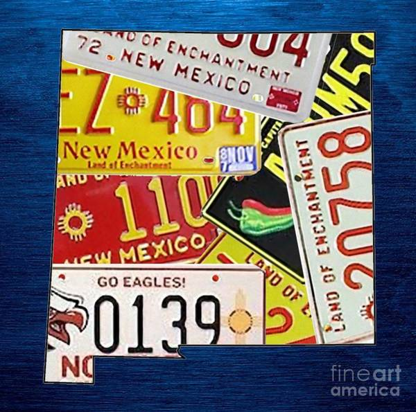 Nm Wall Art - Mixed Media - New Mexico by Mikebimages
