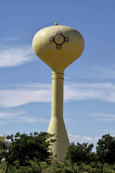 Photograph - New Mexico Zia Sun Water Tower by Chance Kafka