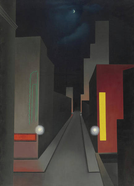Wall Art - Painting - New Moon, New York by George Copeland Ault