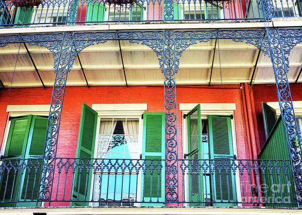 Photograph - New Orleans Balcony Colors by John Rizzuto