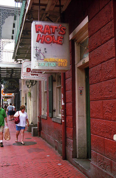 Photograph - New Orleans - Bourbon Street 2004 #46 by Frank Romeo