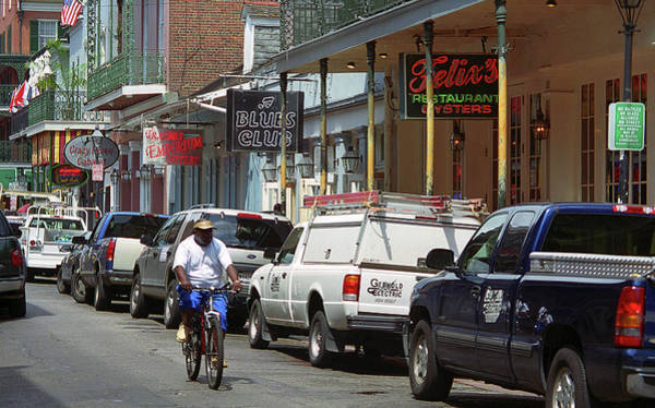 Photograph - New Orleans - Bourbon Street 7 by Frank Romeo