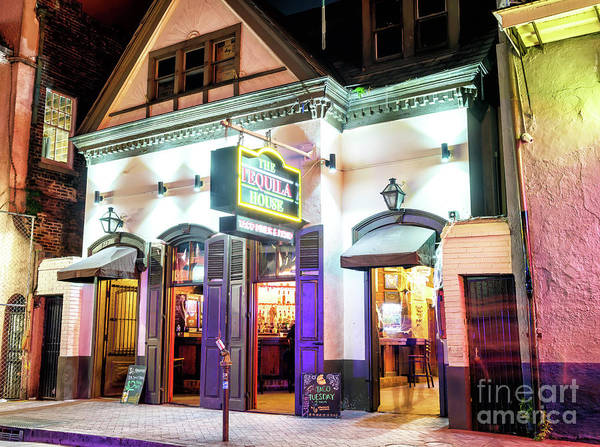 Photograph - New Orleans Bourbon Street Tequila House At Night by John Rizzuto