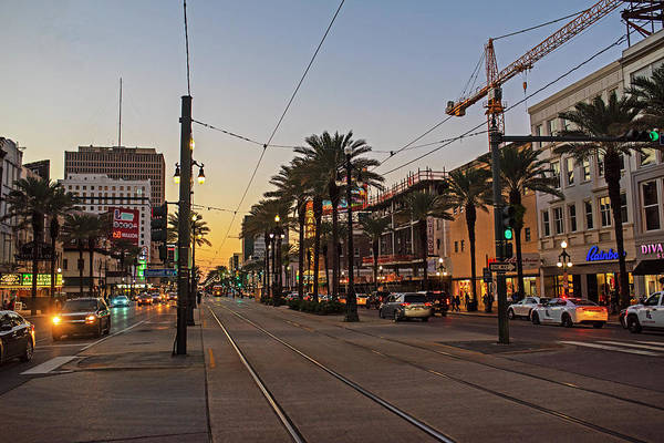 Photograph - New Orleans Canal Street At Sunset New Orleans Louisiana by Toby McGuire