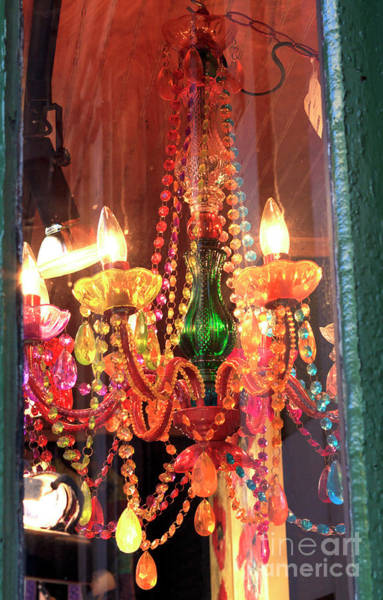 Wall Art - Photograph - New Orleans Chandelier Colors by John Rizzuto