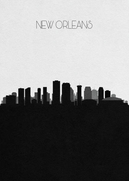 Wall Art - Drawing - New Orleans Cityscape Art by Inspirowl Design