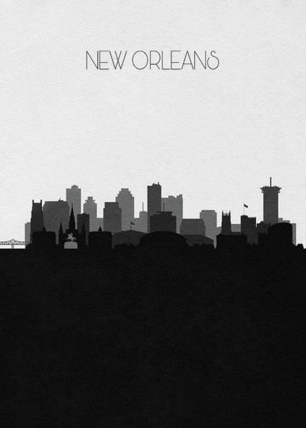 Wall Art - Digital Art - New Orleans Cityscape Art V2 by Inspirowl Design