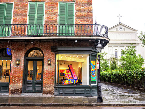 Photograph - New Orleans French Quarter Art In The Window by John Rizzuto