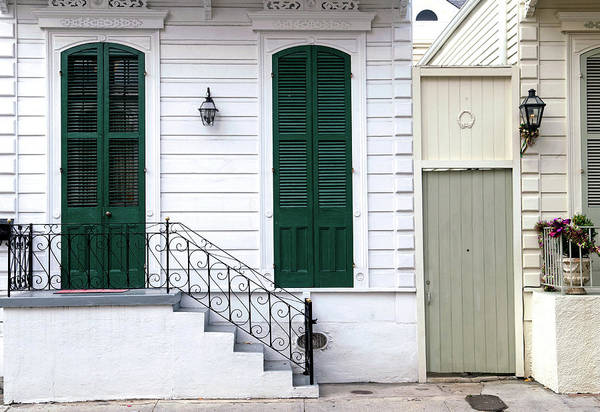 Front Porch Photograph - New Orleans French Quarter Home by Dlewis33