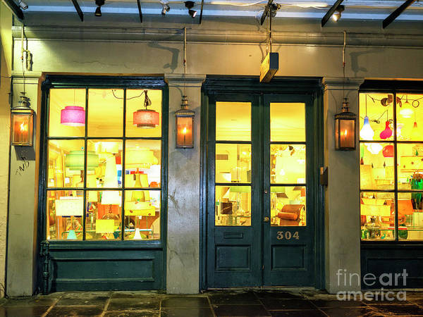 Photograph - New Orleans French Quarter Lights At Night by John Rizzuto