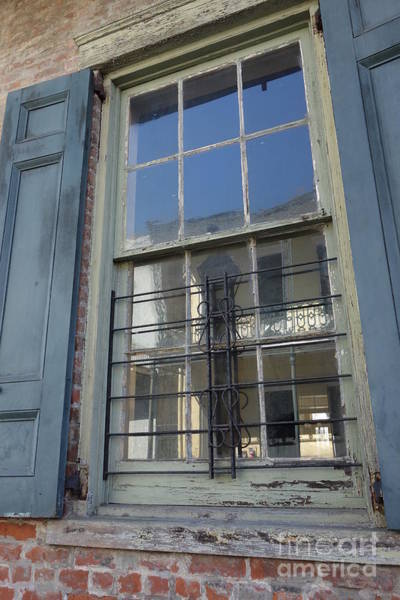 Photograph - New Orleans French Quarter Window And Shutters by Susan Carella
