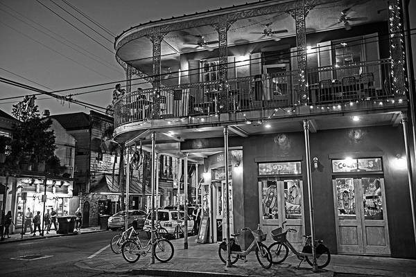 Photograph - New Orleans Frenchmen Street Balcony New Orleans Louisiana La Black And White by Toby McGuire