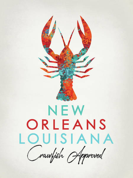Louisiana Digital Art - New Orleans Louisiana Crawfish Bright by Flo Karp