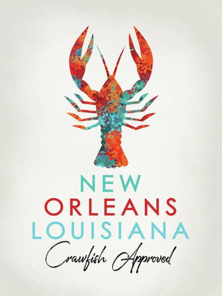 Wall Art - Digital Art - New Orleans Louisiana Crawfish Bright by Flo Karp