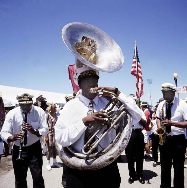 Marching Photograph - New Orleans Marching Band by David Redfern