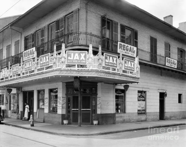 Photograph - New Orleans Restaurant by Frances Benjamin Johnston