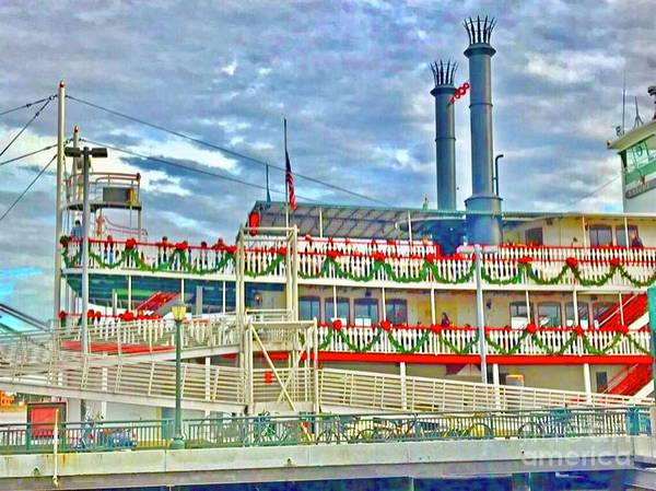 Photograph - New Orleans Riverboat  by Susan Carella
