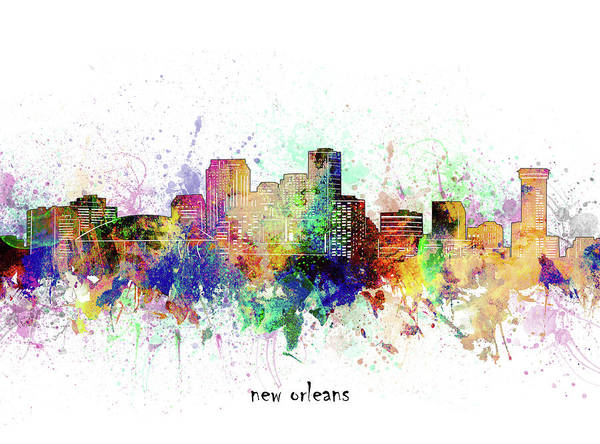 Wall Art - Digital Art - New Orleans Skyline Artistic by Bekim M