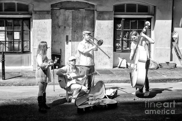 Photograph - New Orleans Street Musicians Infrared by John Rizzuto