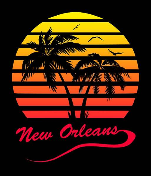 Wall Art - Digital Art - New Orleans Sunset by Filip Hellman