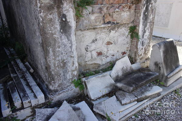 Photograph - New Orleans - Tomb Exposed Brick by Susan Carella