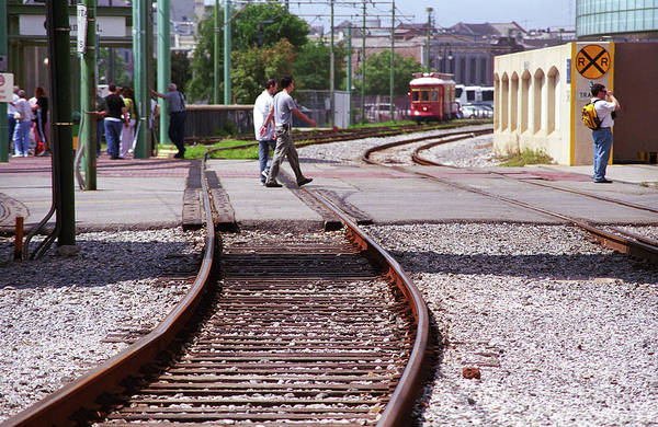 Photograph - New Orleans Trolley Tracks 2004 by Frank Romeo