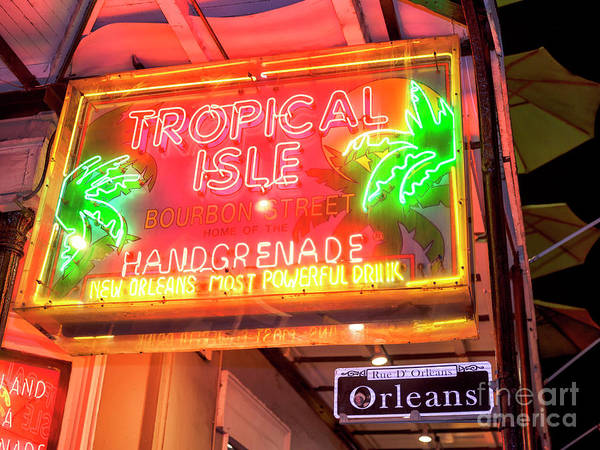 Photograph - New Orleans Tropical Isle On Bourbon Street At Night by John Rizzuto