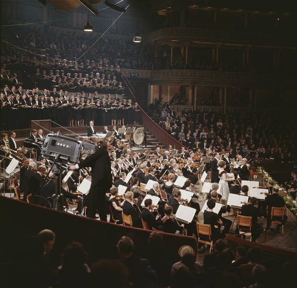 Concert Hall Photograph - New Philharmonia Orchestra by Erich Auerbach