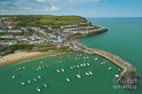 Photograph - New Quay, Wales, From The Air by Keith Morris