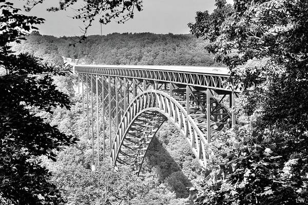 Photograph - New River Gorge And Bridge Black And White by Lisa Wooten