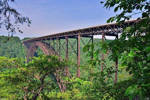 Photograph - New River Gorge Bridge West Virginia by Lisa Wooten