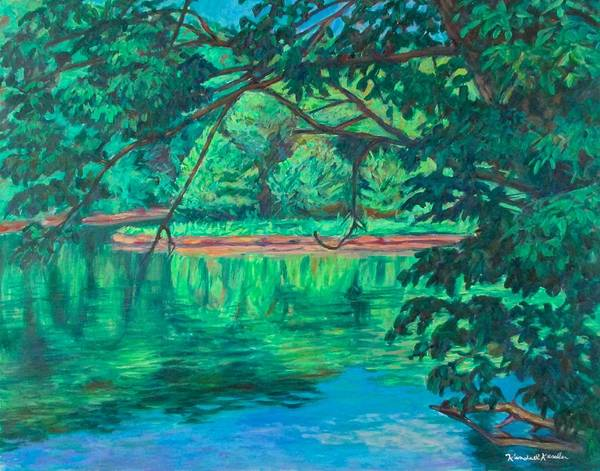 Painting - New River Reflections by Kendall Kessler