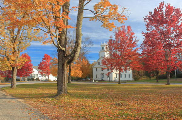 Wall Art - Photograph - New Salem Town Common In Autumn by John Burk