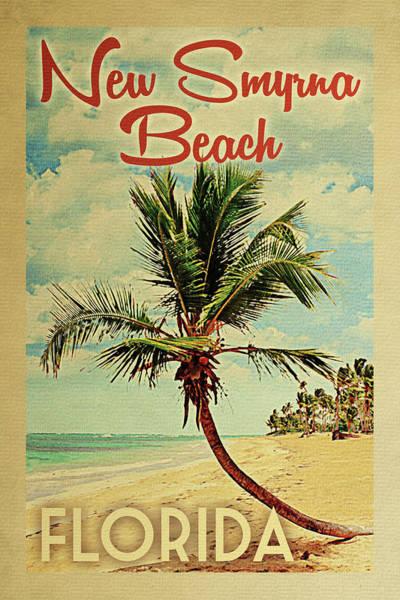 New Smyrna Beach Digital Art - New Smyrna Beach  Florida Palm Tree by Flo Karp