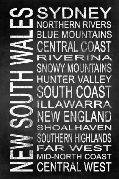 Wall Art - Digital Art - New South Wales Australia 1 by Melissa Smith