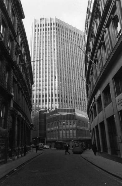 1974 Photograph - New Stock Exchange by Evening Standard
