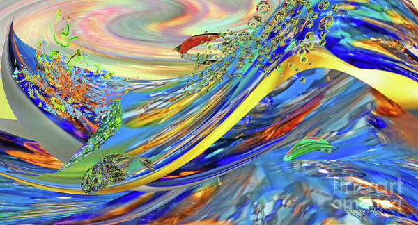 Digital Art - New Wave by Dorothy Pugh