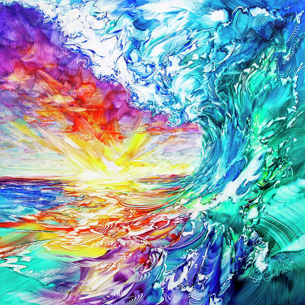 Wall Art - Painting - New Wave The Glory Of Becoming by Susan Card