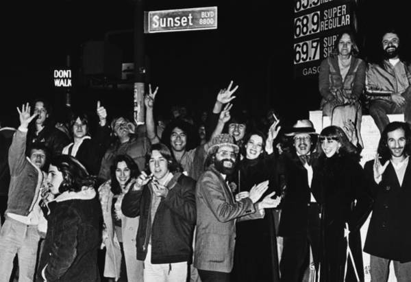 New Wave Music Photograph - New Years Eve On Sunset Blvd by George Rose