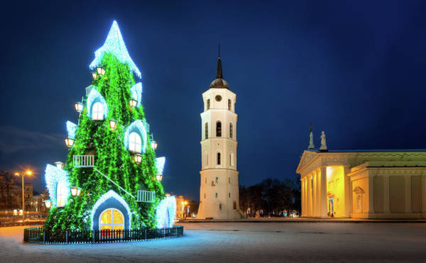 Photograph - New Years Eve - Vilnius, Lithuania by Nico Trinkhaus
